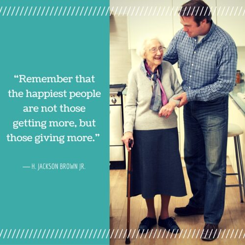 """""""Remember that the happiest people are not those getting more, but those giving more."""""""